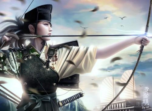 arc,archère,guerrière