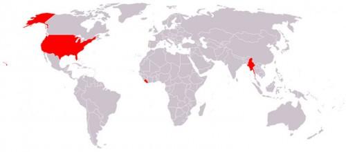 Carte des pays qui n'utilisent pas le système métrique en roug.jpg