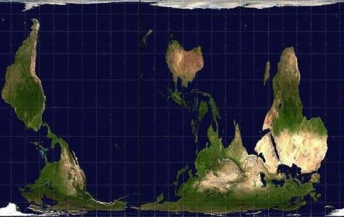 carte,carte du monde,carte inversée,australie,hémisphère sud,projection