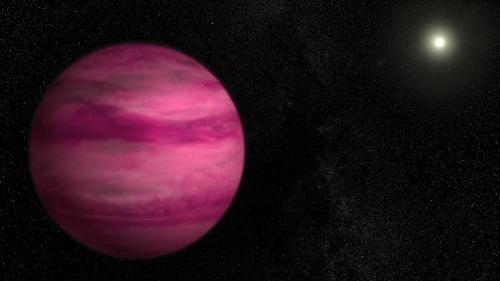 planète rose